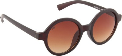 Funky Boys 3040-C2 Round Sunglasses(Brown)