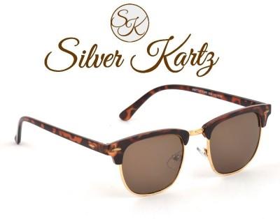 Silver Kartz Tiger Clubmaster Wayfarer Sunglasses