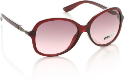 Opium OP-1309-C03 Over-sized Sunglasses(Brown, Pink)