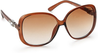 Gio Collection P12293 Over-sized Sunglasses(Brown) at flipkart