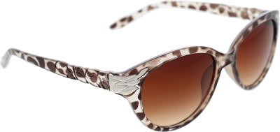 Vast WOMENS _99189_LEAF_CATEYE_DAMMY_GLARES Wayfarer Sunglasses(Brown)