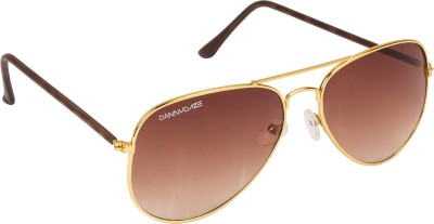 Danny Daze D-1714-C6 Aviator Sunglasses(Brown)