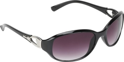 SHOPING RED Contemporary Oval Sunglasses