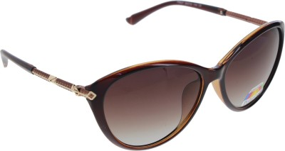Vast WOMENS _POLO_8605_BROWN Cat-eye Sunglasses(Brown)