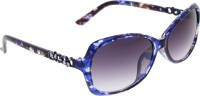 Vast WOMENS _2847_SMALL_Diamond_BLUE Oval Sunglasses(Grey)