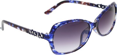 Vast WOMENS _2847_SMALL_Diamond_BLUE_GLARES Cat-eye Sunglasses(Grey)