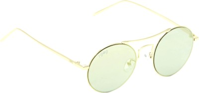 I-GOG Round Yellow Mirror Round Sunglasses