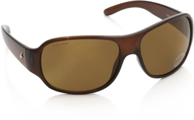 Fastrack P236BR2 Over-sized Sunglasses(Brown)