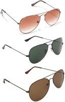 Allen Cate Combo3 Aviator Sunglasses(For Boys)