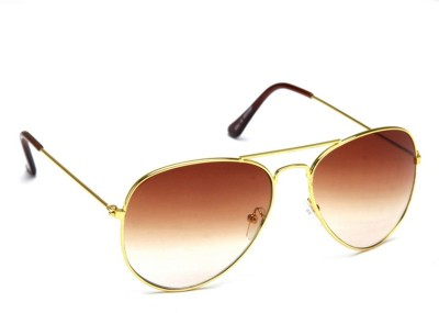 Allen Cate Golden Brown Dual Shade Aviator Sunglasses