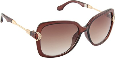 Farenheit �1812-c2 Oval Sunglasses(Brown)