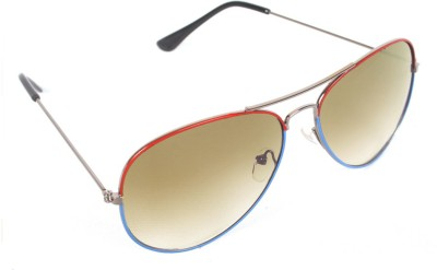 6by6 SG338 Aviator Sunglasses(Brown)