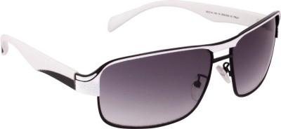 Killer KL3004 BLKWHT Rectangular Sunglasses(Grey) image