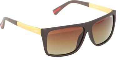IMAGE IM-452-C3-P Rectangular Sunglasses(Brown)