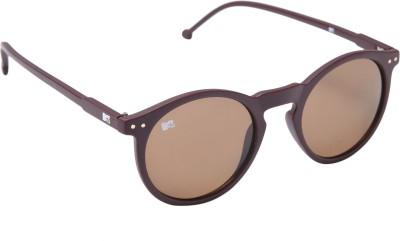 MTV 118-C3 Round Sunglasses(Brown)