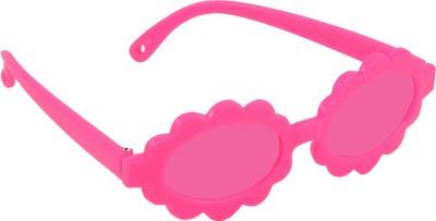 Angel Glitter Pretty in Purple and Brillant Pink Sunflower style Kids Fashion Oval Sunglasses