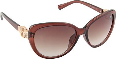 Farenheit 1814 Oval Sunglasses(Brown)