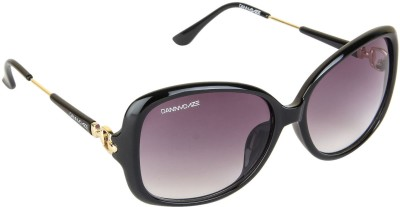 Danny Daze D-255-C1 Over-sized Sunglasses(Black)