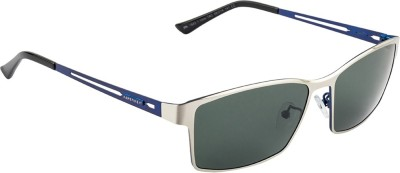 Farenheit FA-1643P-C2 Rectangular Sunglasses(Green) at flipkart