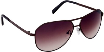 Gansta Gansta MH-1003 Brown sunglass Aviator Sunglasses(Brown)