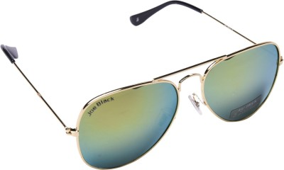Joe Black JB-999-C33 Aviator Sunglasses(Golden, Green)