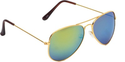 6by6 SG1457 Aviator Sunglasses(Green)