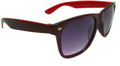 Goggy Poggy FW405-BLK-RED Wayfarer Sunglasses