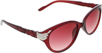 Vast WOMENS _99189_LEAF_CATEYE_RED_GLARES Wayfarer Sunglasses(Grey)