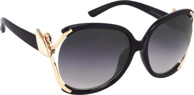 Verre superior women Over-sized Sunglasses(Black)