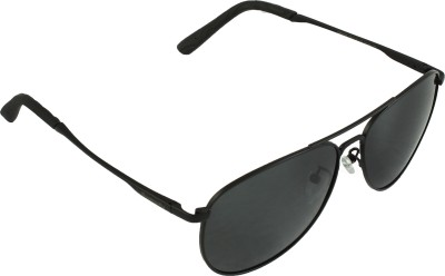 QWERTY Black Polarized Aviator Sunglasses