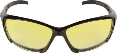 JUSTIN NIGHT VISION Wrap-around Sunglasses(Yellow)