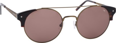 Mango Pickles RO-5010-Rose-Gold Round Sunglasses(Brown)