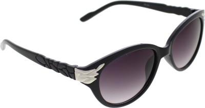 Vast WOMENS _99189_LEAF_CATEYE_BLACK Cat-eye Sunglasses(Grey)