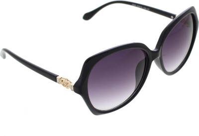Vast WOMENS _2830_DIAMOND_NET_Black_GLARES Cat-eye Sunglasses(Multicolor)