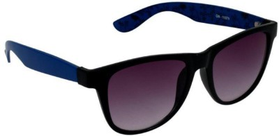 Gansta Gansta GN-11079 Black & Blue way-farer sunglass Wayfarer Sunglasses(Grey)