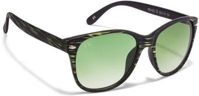 Mask MASK MS 1453 Black Green Design Green Gradient C4 Wayfarer Women