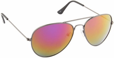 IRAYZ 1242 Aviator Sunglasses(Golden, Green, Red)