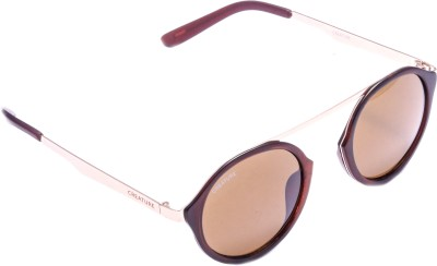 Creature maple-002 Wayfarer, Round Sunglasses(Brown)