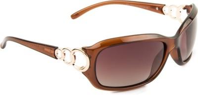Farenheit FA-1342-C4-New Rectangular Sunglasses(Brown)