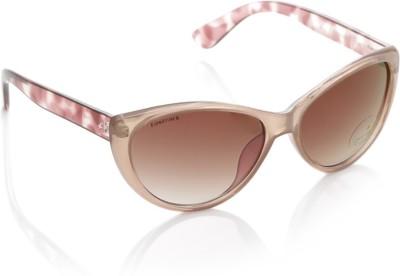 Fastrack P282PR2F Cat-eye Sunglasses(Brown) image