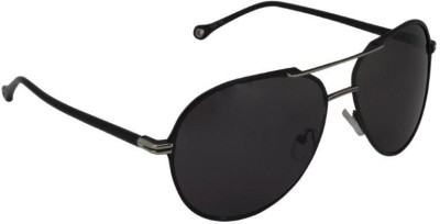 Gansta Gansta MH-1007 Black aviator sunglass Aviator Sunglasses(Black)