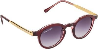 Danny Daze D-2526-C2 Round Sunglasses(Violet)