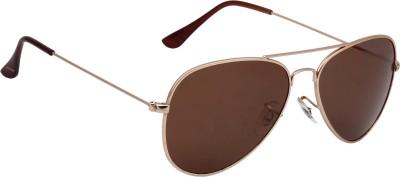 Fave FAV007 Aviator Sunglasses(Brown)