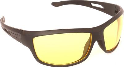 Vast HD_NIGHT_YELLOW Wrap-around Sunglasses(Yellow)