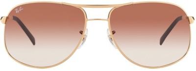 Ray-Ban RB3387001/13 Aviator Sunglasses(Brown) at flipkart