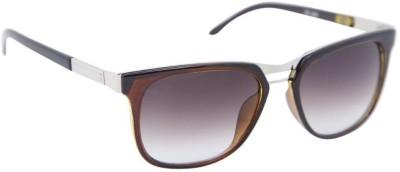 Gansta Gansta ZE-1026 Brown rectangular wayfarer sunglass with gradient lens Wayfarer Sunglasses(Brown)