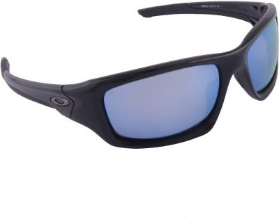 Oakley Valve Polished Black w/Prizm Deep Water Polarized Wrap-around Sunglasses