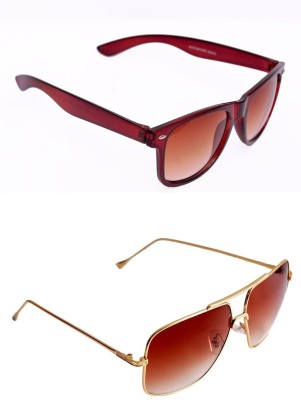 Simran Rectangular, Wayfarer Sunglasses