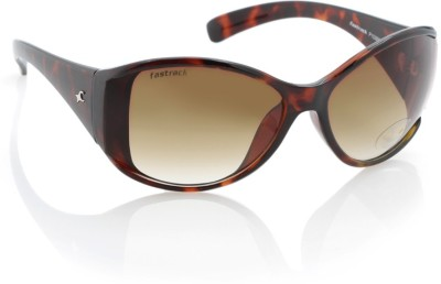 Fastrack P153BR1F Over-sized Sunglasses(Brown)