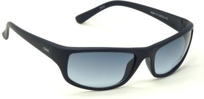 IDEE S2007-C7 Blue Shaded Medium 59mm Wrap-around Sunglasses(Blue)